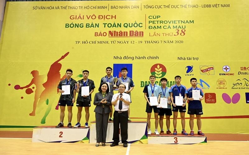 Bế mạc và trao giải Giải vô địch bóng bàn toàn quốc Báo Nhân Dân lần thứ 38 -1
