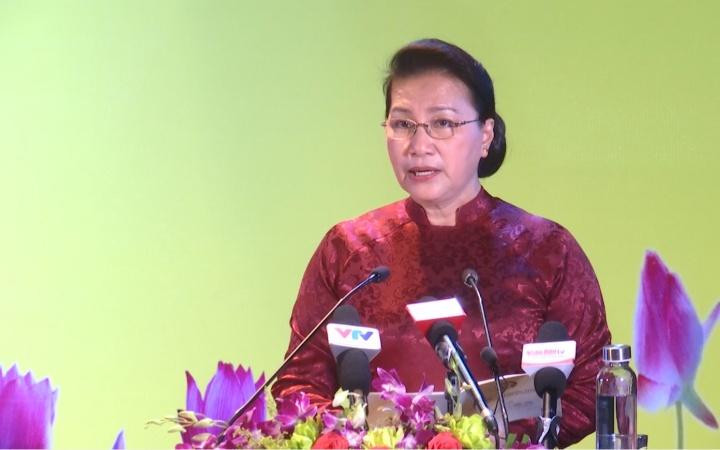 Chủ tịch Quốc hội Nguyễn Thị Kim Ngân dự lễ trao Bằng Tổ quốc ghi công -0