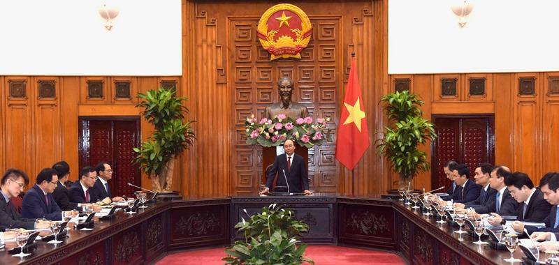 Thủ tướng tiếp các doanh nghiệp Hàn Quốc đầu tư tại Việt Nam -0