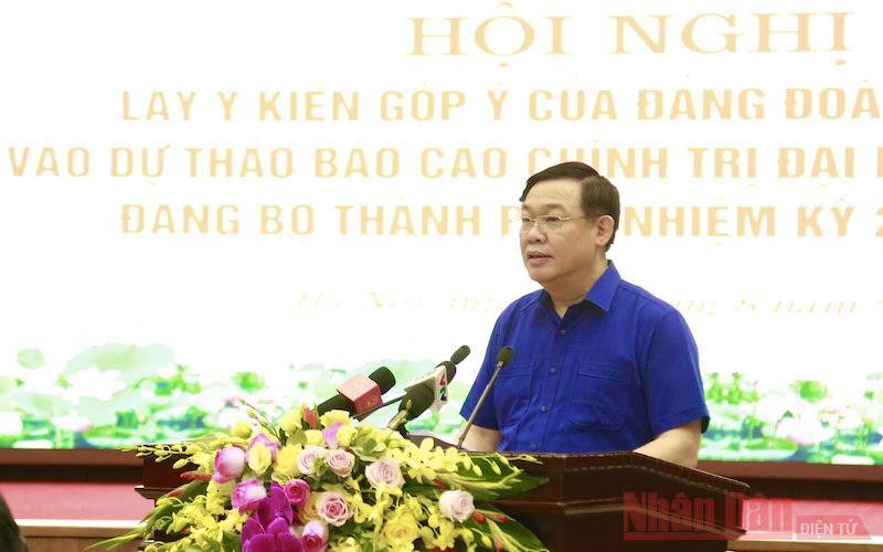 Đảng đoàn Quốc hội góp ý Dự thảo Văn kiện Đại hội Đảng bộ TP Hà Nội -0