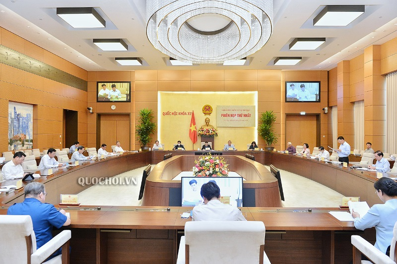Chủ tịch Quốc hội chủ trì Phiên họp thứ nhất của Hội đồng Bầu cử quốc gia -0
