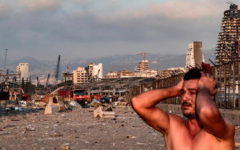 Từ hiện trường vụ nổ kinh hoàng tại Lebanon -0