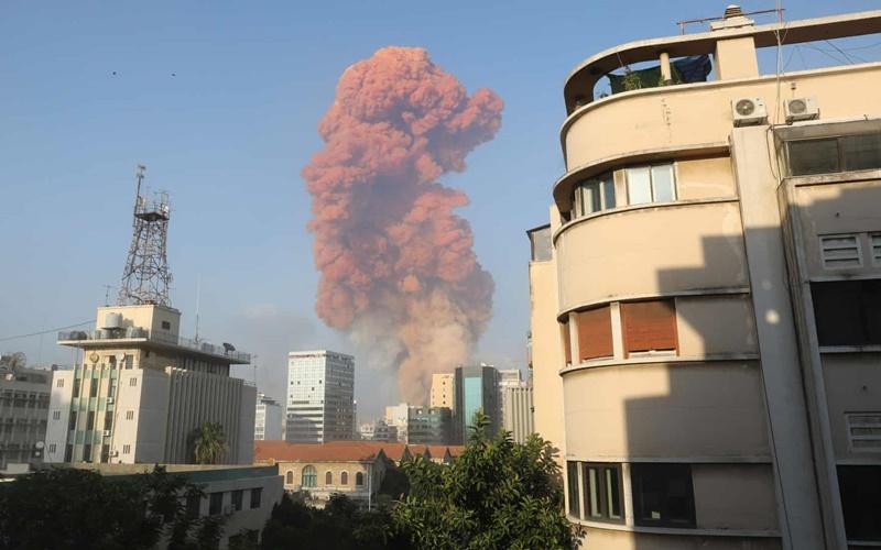 Từ hiện trường vụ nổ kinh hoàng tại Lebanon -1