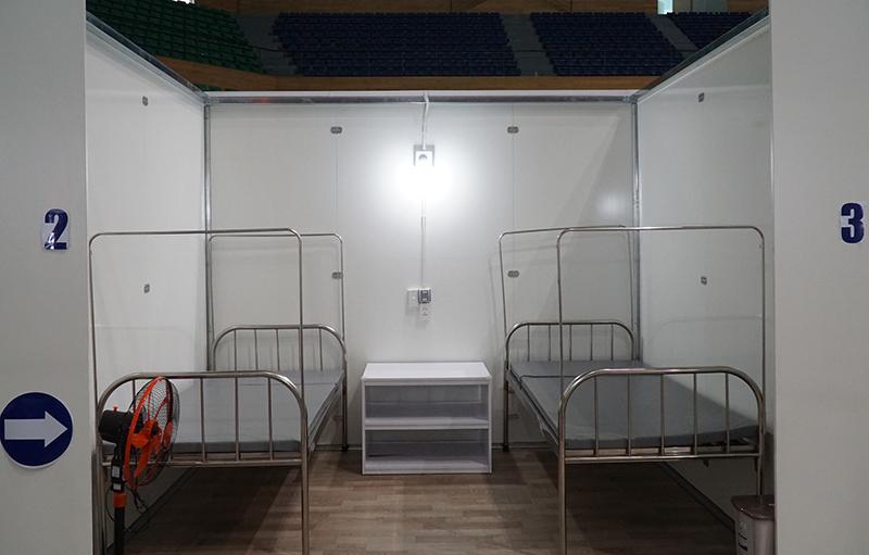 Bệnh viện dã chiến tại Cung thể thao Tiên Sơn sẵn sàng hoạt động -0