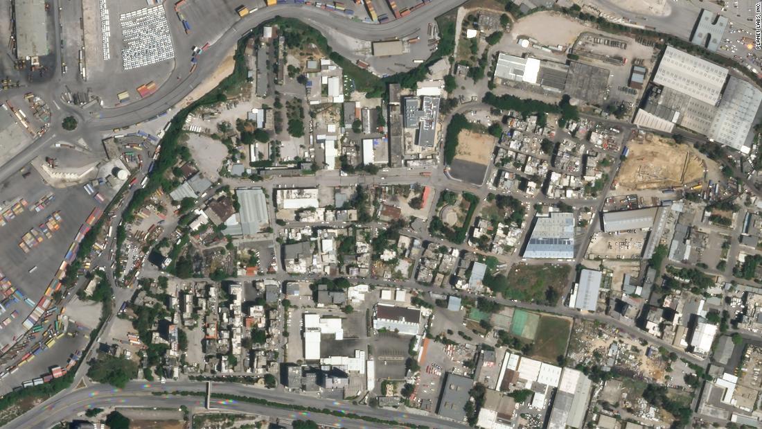 Ảnh vệ tinh trước và sau vụ nổ ở Lebanon -0