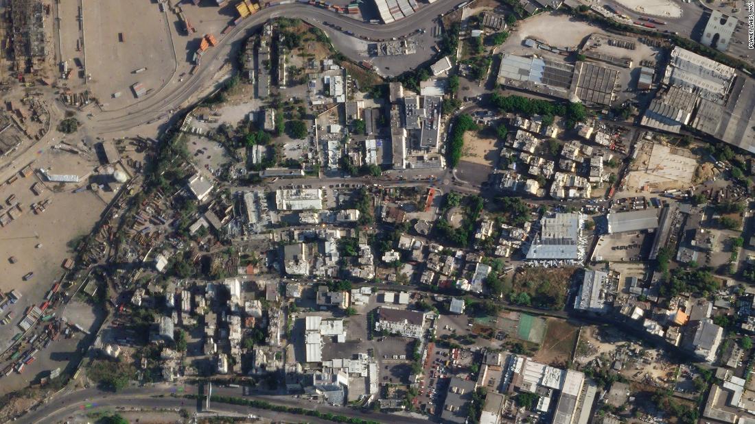 Ảnh vệ tinh trước và sau vụ nổ ở Lebanon -1