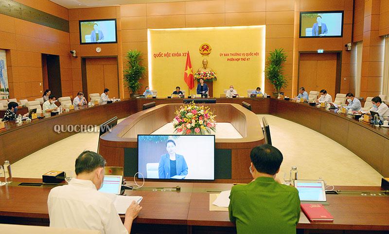 Khai mạc phiên họp thứ 47 của Ủy ban Thường vụ Quốc hội -0