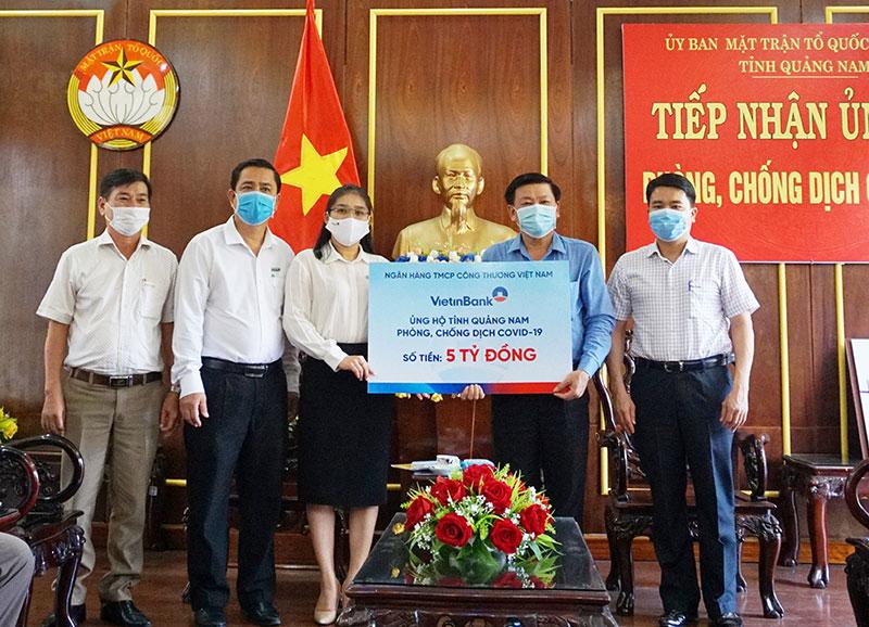 VietinBank ủng hộ Đà Nẵng, Quảng Nam 10 tỷ đồng chống dịch Covid-19 -0