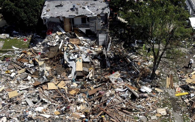 Nổ lớn gây thương vong và san phẳng nhiều ngôi nhà tại Mỹ -0