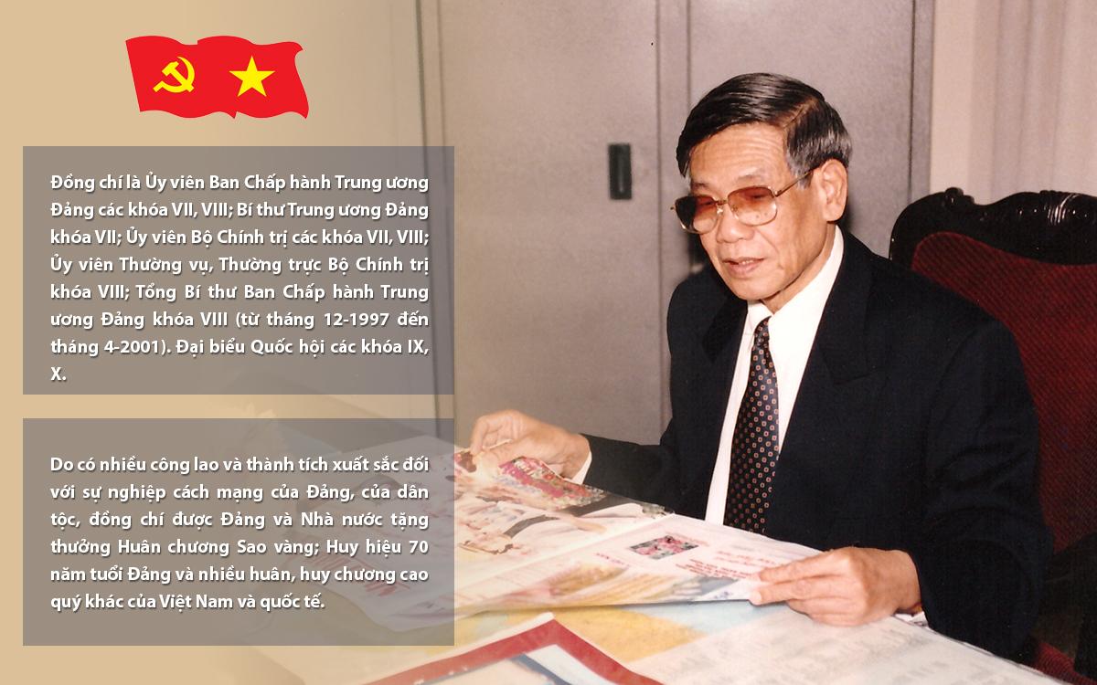 [Infographic] Tóm tắt tiểu sử đồng chí LÊ KHẢ PHIÊU, Nguyên Tổng Bí thư Ban Chấp hành Trung ương Đảng Cộng sản Việt Nam -2