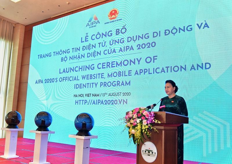 Công bố Trang thông tin điện tử, Bộ nhận diện Năm Chủ tịch AIPA 2020 -0
