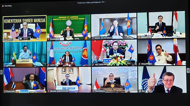 Bộ trưởng Lao động ASEAN ra Tuyên bố chung về ứng phó với tác động của dịch Covid-19 tới lao động - việc làm -0