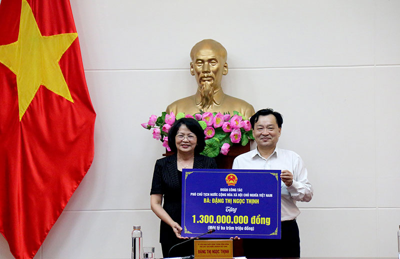 Phó Chủ tịch nước Đặng Thị Ngọc Thịnh thăm và làm việc tại tỉnh Bình Thuận -0