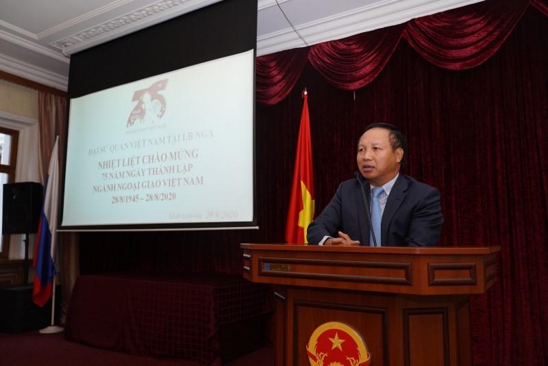 Kỷ niệm 75 năm Ngày thành lập Ngành Ngoại giao Việt Nam tại LB Nga -0