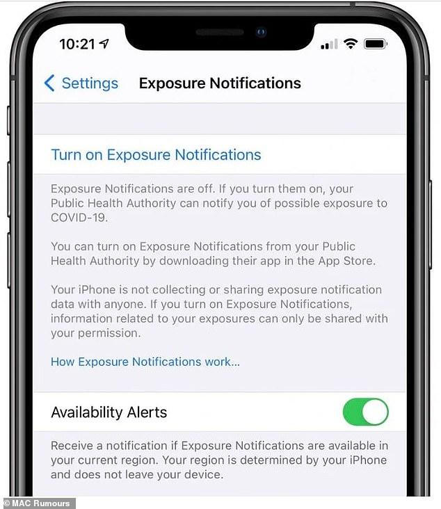 Apple thiết lập tính năng báo tin phơi nhiễm Covid-19 cho người dùng -0