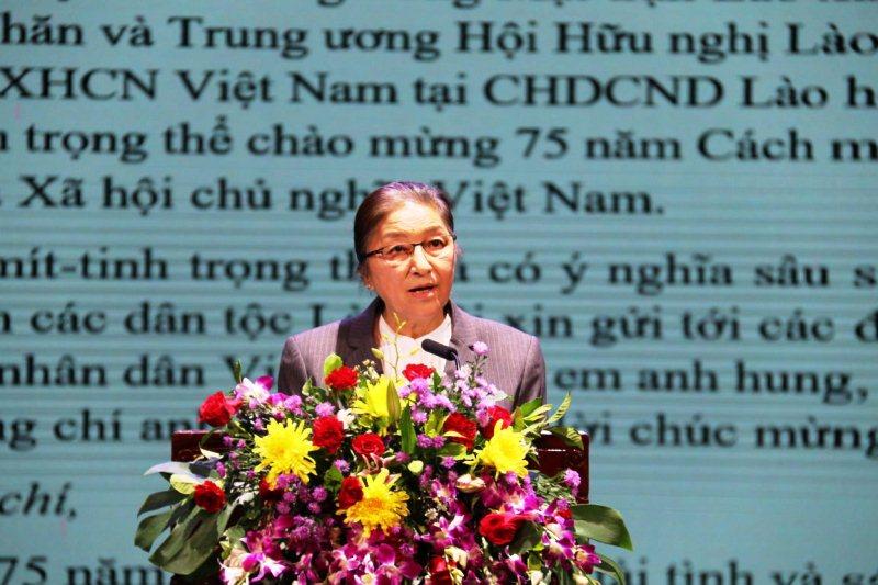 Mít-tinh kỷ niệm 75 năm Quốc khánh Việt Nam tại Lào -0