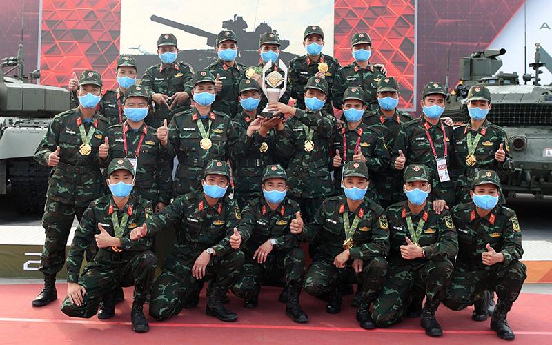 Đội tuyển Xe tăng QĐND Việt Nam xuất sắc đoạt Huy chương vàng tại Army Games 2020 -0
