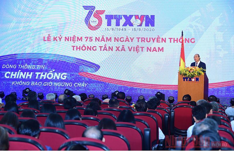 Thủ tướng Nguyễn Xuân Phúc dự kỷ niệm 75 năm Ngày thành lập Thông tấn xã Việt Nam -0