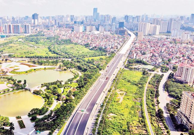 Chuẩn bị thông xe dự án cầu cạn Mai Dịch - Nam Thăng Long -1