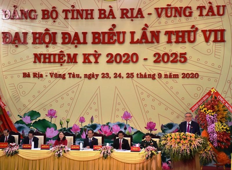 Khai mạc Đại hội Đảng bộ tỉnh Bà Rịa - Vũng Tàu lần thứ 7 -0