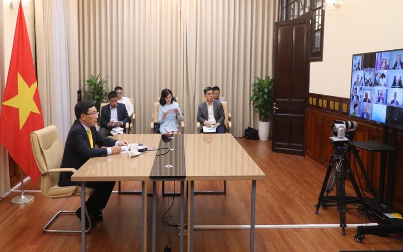 Phó Thủ tướng, Bộ trưởng Ngoại giao Phạm Bình Minh tham dự  Phiên họp trực tuyến cấp cao của HĐBA LHQ -0