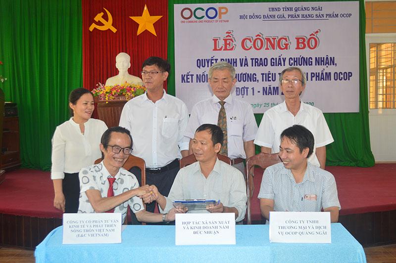 Quảng Ngãi công bố 11 sản phẩm OCOP đạt hạng ba, bốn sao -0