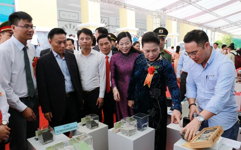 Chủ tịch Quốc hội Nguyễn Thị Kim Ngân dự Đại hội Thi đua yêu nước tỉnh Thái Nguyên -0