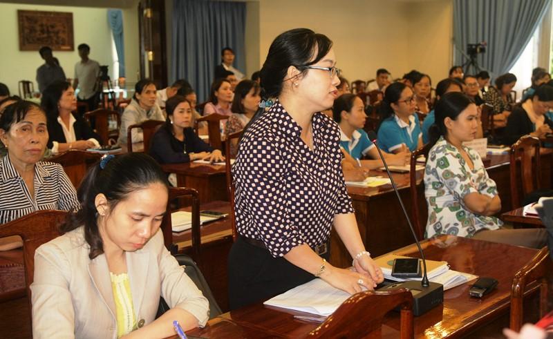 Bí thư Tỉnh ủy Đồng Nai đối thoại với phụ nữ -0