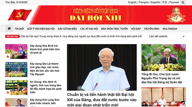 Khai truơng Trang tin điện tử Đảng Cộng sản Việt Nam – Đại hội XIII -0