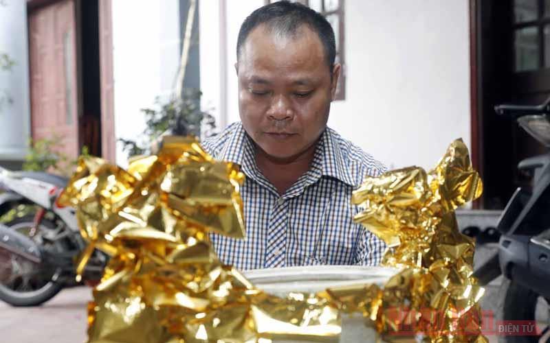 Nét riêng có ở làng nghề dát quỳ vàng Kiêu Kỵ -0