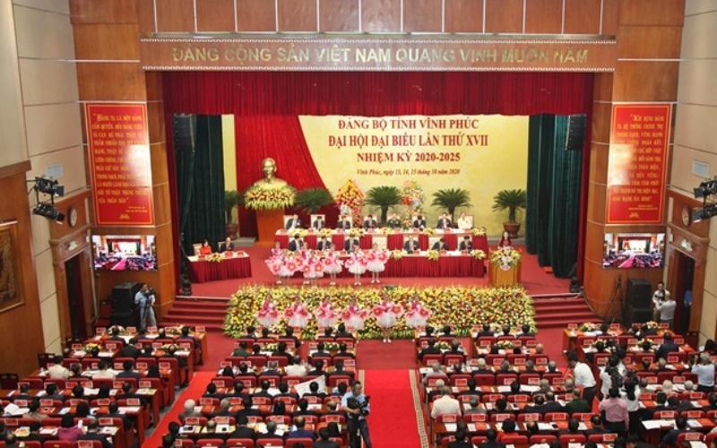 Khai mạc Đại hội Đảng bộ tỉnh Vĩnh Phúc lần thứ 17 -0