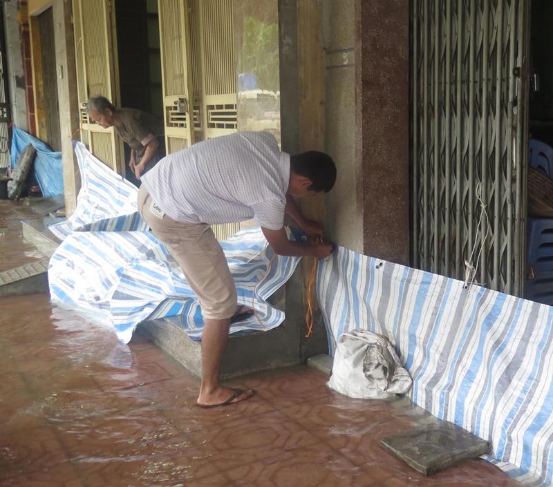 Mưa kỷ lục, thành phố Thái Bình ngập sâu, lúa gãy đổ trên diện rộng -0