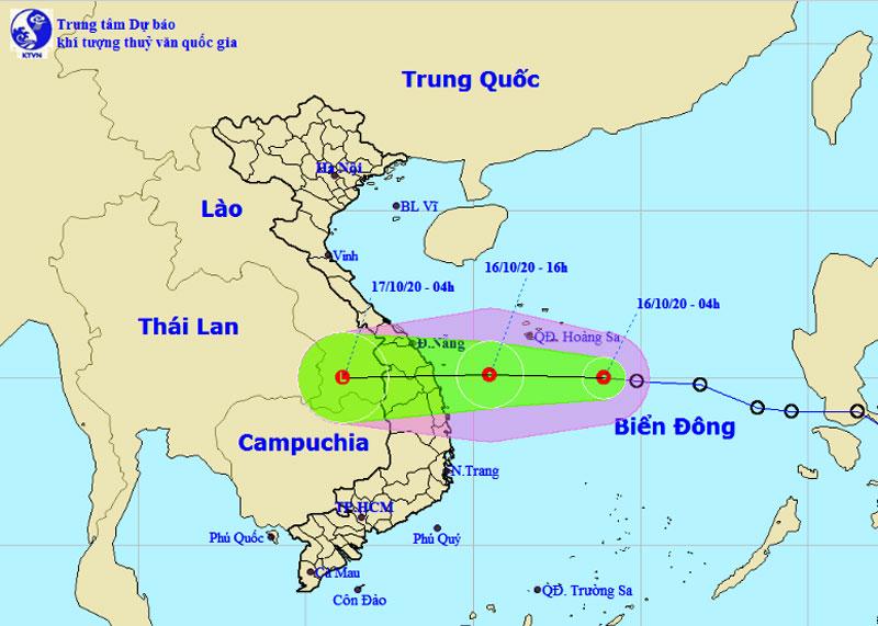 Áp thấp giật cấp 8 cách Đà Nẵng-Khánh Hòa 510 km