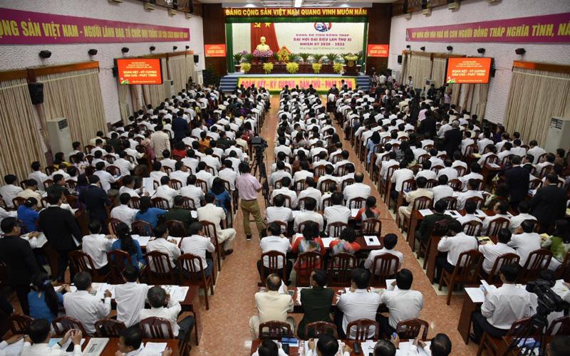 Khai mạc Đại hội Đảng bộ tỉnh Đồng Tháp lần thứ 11 -0