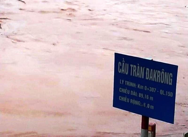 Lũ lại lên nhanh ở các huyện miền núi Quảng Trị -0