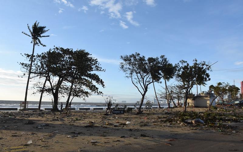 Nhiều km đường biển Đà Nẵng ngập trong cát -0