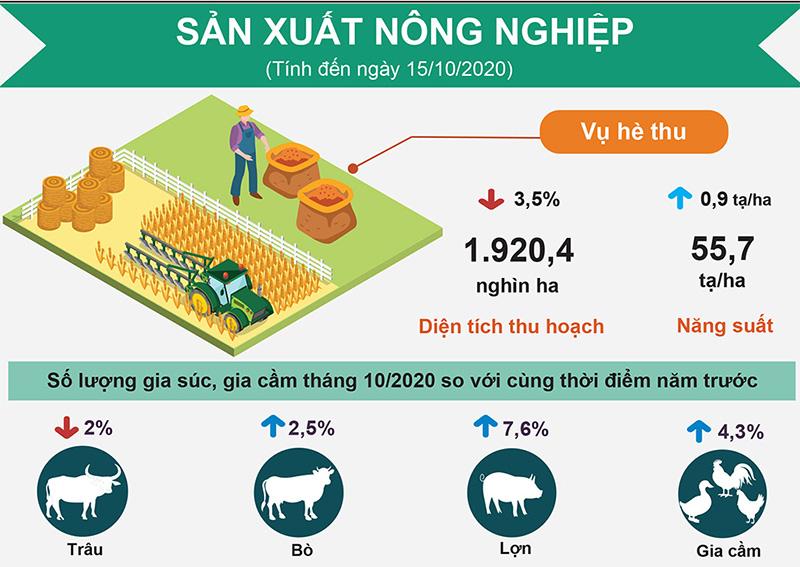 Công nghiệp khởi sắc, nông nghiệp chịu nhiều thiệt hại -0