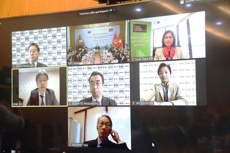 Hội đàm trực tuyến nhóm ba tổ chức tài chính của Nhật Bản, Hoa Kỳ, Australia -0