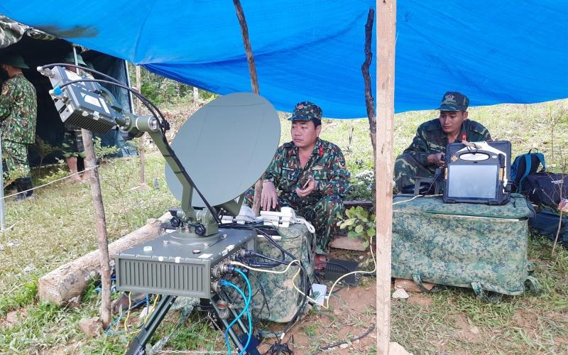 Thành lập trạm thông tin liên lạc cấp chỉ huy tại Trà Leng, huyện Nam Trà My -0