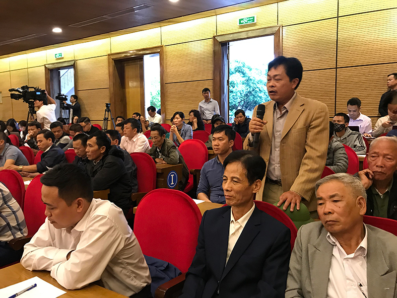 Lãnh đạo TP Hà Nội đối thoại với người dân khu vực Bãi rác Nam Sơn -0