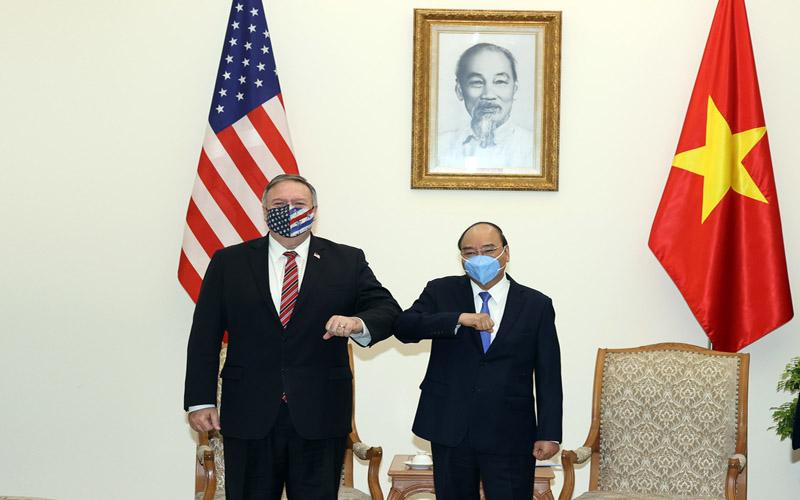 Thủ tướng Chính phủ Nguyễn Xuân Phúc tiếp Ngoại trưởng Hoa Kỳ Michael Pompeo -0