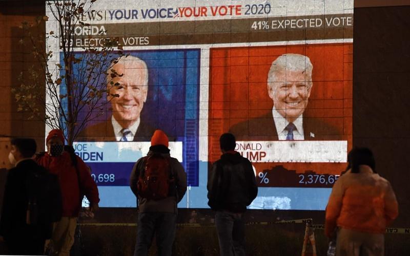 Ứng viên Joe Biden thắng 131 phiếu đại cử tri, ứng viên Donald Trump giành 92 phiếu -0