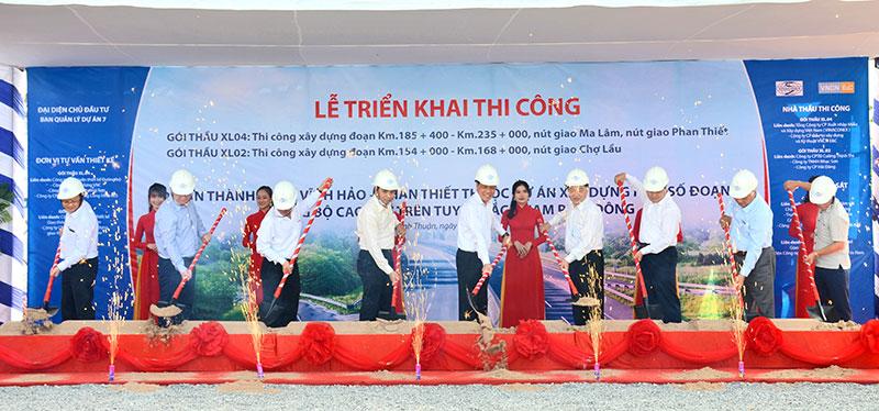 Triển khai thi công xây dựng đường cao tốc bắc-nam đoạn Vĩnh Hảo - Phan Thiết -0