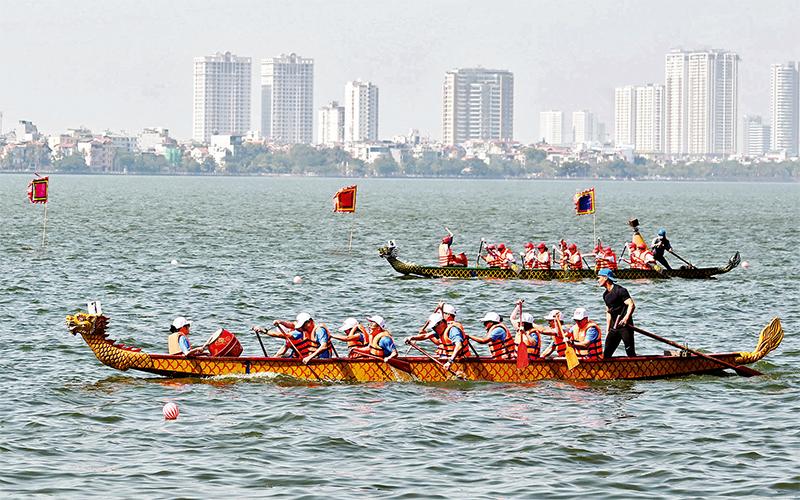 Giải Bơi chải thuyền rồng Hà Nội mở rộng năm 2020 -0