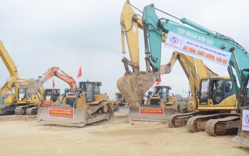 Đồng loạt thi công ba gói thầu thuộc dự án cao tốc Mai Sơn - quốc lộ 45 -0
