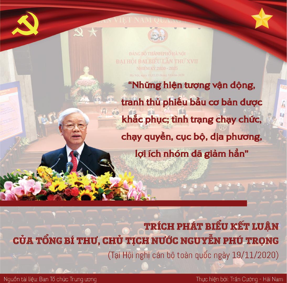 [Infographic] Phát biểu kết luận của Tổng Bí thư, Chủ tịch nước Nguyễn Phú Trọng tại Hội nghị cán bộ toàn quốc -0