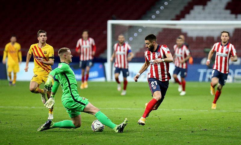 Thất thủ 0-1 trước Atletico, Barca tụt xuống thứ 10 La Liga -0