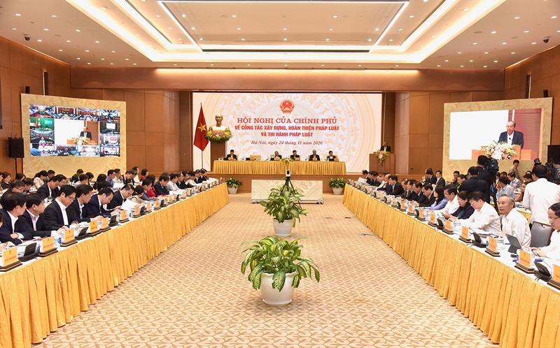 Thủ tướng chủ trì Hội nghị của Chính phủ về công tác xây dựng, hoàn thiện pháp luật và thi hành pháp luật -0