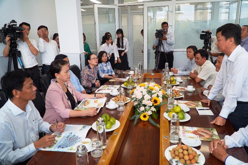 Chủ tịch Quốc hội thăm gia đình chính sách tại Sóc Trăng -0