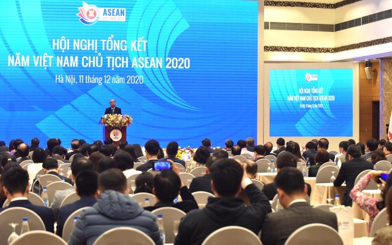 Thủ tướng Nguyễn Xuân Phúc dự Hội nghị tổng kết Năm Việt Nam ASEAN 2020 -0